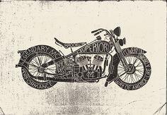 betype: Custom Garage by mke design Custom Garages, Rock Tees, Typography, Branding, Design, Motorcycle, Logo, Ideas, Letterpress