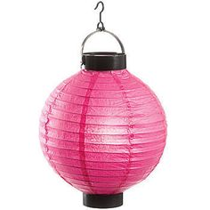 Our Candy Pink LED Paper Lantern will lighten any party! Each candy pink lighted lantern measures 8 inches and has a LED light with an on/off switch.
