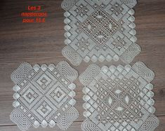 Square lace doily handmade with spindles Lace Doilies, 3 Things, Etsy, Pattern, Handmade, Vintage, Boutique, Women, Handmade Gifts