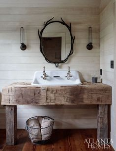 Below are the Farmhouse Bathroom Vanity Ideas. This article about Farmhouse Bathroom Vanity Ideas was posted under the Bathroom category. Diy Bathroom Vanity, Rustic Bathroom Vanities, Rustic Bathrooms, Bathroom Styling, Bathroom Small, Bathroom Ideas, Lodge Bathroom, Vintage Bathrooms, Bathroom Mirrors