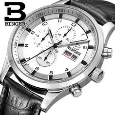150.00$  Watch here - http://alidsp.worldwells.pw/go.php?t=32552043859 - BINGER New Fashion Big Sports Quartz Wristwatches for Men Luxury Brand Stainless Steel Men's Watch Dress Relogio Males B7001M