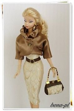 bena-pl Clothes for Silkstone, Vintage Barbie, Fashion Royalty OOAK outfit