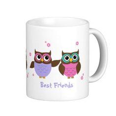 Cute #Owls Best Friends Forever Mugs