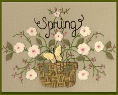 Wool Seasons: Spring - Wool Applique Pattern - By Beth Ritter For Wellington…