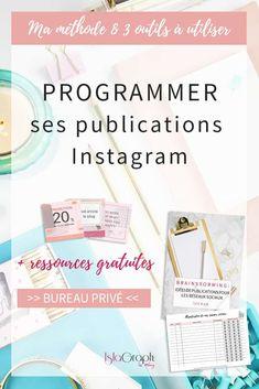 Tu veux être plus constante dans tes publications Instagram ? Programmer tes publications peut t'aider. Ma méthode + 3 outils à utiliser + ressources gratuites #instagram #instagramtips via @islagraphh