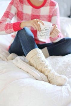 Immagine di winter, coffee, and socks
