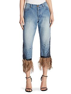 Johanna Ortiz Petra Embellished Jeans