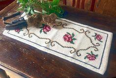 Dresser Scarf Pink Table Runner Dresser Runner Floral Table