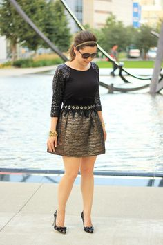 Our Joe Fresh sequined top paired with feathers on Crazy Style Love blog!