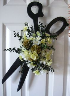 Wreath for a Hairdresser; fun!: