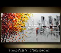 This painting is undoubtedly a great gift. It is also ideal for home and office decorations. It is an original painting, hand painted on canvas, coated with a layer of semi-gloss varnish. Thick, magical paints and palette knife Colorful Trees, Knife Painting, Palette Knife, Texture Painting, Acrylic Art, Landscape Paintings, Modern Art, Original Paintings, Abstract Art
