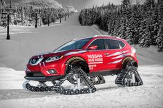 Forget studded tires or chains - when you need the capability to get pretty much anywhere in the harshest of wintry conditions, you need tracks. Like the ones on the Nissan Rogue Warrior Snow Track Crossover. This snow-centric concept has...