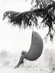 hanging chair, nanna ditzel, egg