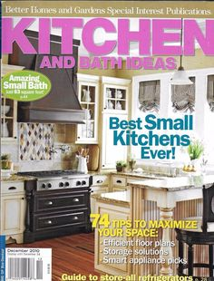 Kitchen And Bath Ideas Magazine Small Spaces Floor Plans Storage Solution  Tips