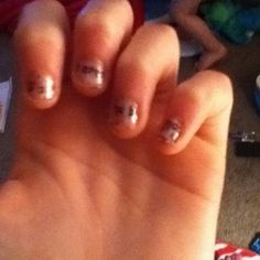 I did newspaper nails and they look great