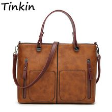 Cheap shoulder bags, Buy Quality dames tassen directly from China bags female Suppliers: Tinkin Vintage Women Shoulder Bag Female Causal Totes for Daily Shopping All-Purpose High Quality Dames Handbag Tote Handbags, Leather Handbags, Leather Bags, Leather Satchel, Bag Women, Shoulder Handbags, Shoulder Bags, Vintage Leather, Pu Leather