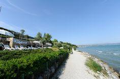 The private beach of the Acquaviva Hotel, private beach Garda Lake #beach #gardalake