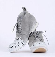 rundholz black label - Boots Velour mit Löchern plankton - Sommer 2015 - stilecht - mode für frauen mit format...