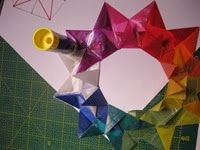 sterne 212 - New Ideas Yule, Snowflakes, Origami, Christmas Crafts, Textiles, Xmas Ideas, Classroom Ideas, Star, Winter