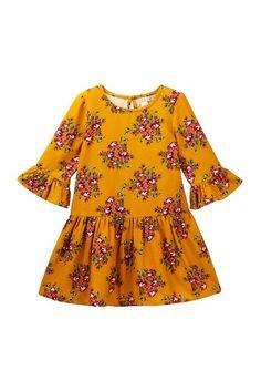 """Harper Canyon   3/4"""" Length Drop Waist Print Dress (Toddler & Little Girls)   Nordstrom Rack"""