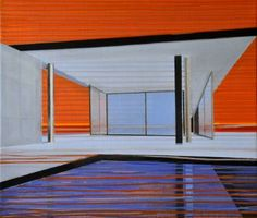 "Saatchi Art Artist Cécile van Hanja; Painting, ""Modernism at Sunset"" #art"
