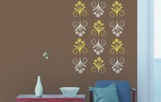 Get Stencils painting service with the best professional painters in Bangalore. On Time & On Budget painting. Wall Stencil Designs, Wall Decor Design, Asian Paints Wall Designs, Wall Stickers Wallpaper, Wall Stickers Murals, Office Wall Decor, Office Walls, Asian Paints Royale, House Painting Services