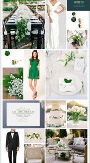 THIS. ALL OF IT.  REVEL: Crisp Green   White Wedding Inspiration
