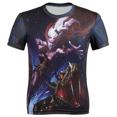 Brand clothing 2016 new Arrival Europe And America Top Hot 3d tshirt Men's Casual T-shirt Clown Print Tops Tee 19 Color M-4XL