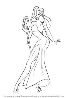 How to Draw Jessica Rabbit - DrawingTutorials101.com