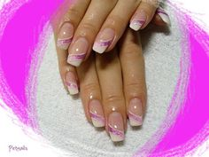 Bridal nails. French manicure with a twist