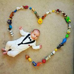 Baby shooting - 2 months baby boy photography - big heart #babyAndy