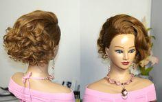 Hairstyles for medium long hair. Прическа для длинных и средних волос. (...