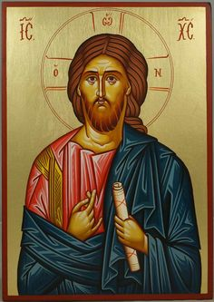 High quality hand-painted Orthodox icon of Christ Ruler of All. BlessedMart offers Religious icons in old Byzantine, Greek, Russian and Catholic style. Byzantine Art, Byzantine Icons, Religious Icons, Religious Art, Jesus Christ Painting, Christ Pantocrator, Paint Icon, Images Of Christ, Orthodox Icons