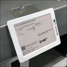 Shelf-Edge Digital-Price-Ticket Sign Holder Retail Fixtures, Store Fixtures, Price Tickets, Retail Merchandising, Close Up, Overlays, Cool Things To Buy, Shelf, Channel