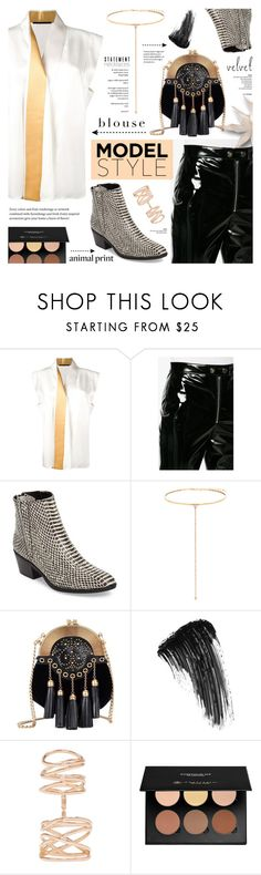 """""""NYFW"""" by cly88 ❤ liked on Polyvore featuring Haider Ackermann, MSGM, Calvin Klein, Shay, Miu Miu, Eyeko, Repossi and Anastasia Beverly Hills"""