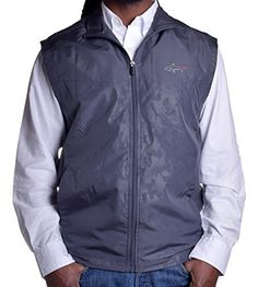 Greg Norman Mens Sleeveless Moisture Absorption Full Zip Jacket >>> See this great product. Note:It is Affiliate Link to Amazon.