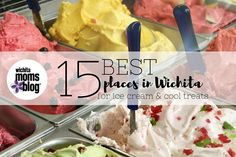 Check out our list of the 15 best places to get ice cream in Wichita (plus frozen yogurt, Italian ice, and all your other summertime favorites!).