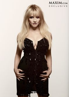 Big Bang Theory's Melissa Rauch in a sexy black outfit