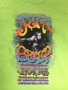 JEFF BECK Grande Ballroom T-Shirt 1968 original poster art by iconic Detroit artist Carl Lundgren