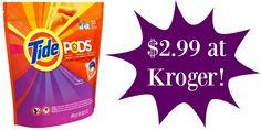 Kroger: Tide PODS Only $2.99 (Starts 7/27)!