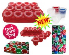 Ice Shot Glass Mold Kit with Tray, Bonus/ Free - 50 - 2 Oz Jello Shot Cups/ Containers with Lids Party Set! Make Unique Cocktails and Be the Life of the Party. Click the Add to Cart Button Now To Get This Party Started.