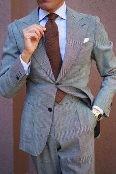 Beige Suits For Men, Brown Suits, Mens Fashion Suits, Mens Suits, Fashion Fashion, Italian Style Suit, Stylish Men, Men Casual, Mens Wedding Ties