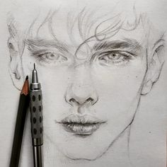 A pencil, paper and drawing, simple things that make you happy. 🙂 Beautiful drawings created by _____________________ ▪… beauty drawings Pencil Sketch Portrait, Portrait Sketches, Pencil Art Drawings, Art Drawings Sketches, Drawing Portraits, Pencil Sketches Of Faces, Sketch Art, Realistic Sketch, Realistic Face Drawing