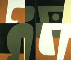 Love Scene, 1982 by Yiannis Moralis. Greek Paintings, Greek Art, Illustration, Art Abstrait, Elements Of Art, Figure Painting, Artist Art, New Art, Sculpture Art