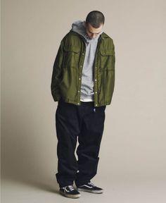 Hip Hop Fashion, Mens Fashion, Estilo Cholo, Climbing Pants, Field Jacket, Contemporary Fashion, Denim Shirt, Streetwear Fashion, Hooded Sweatshirts