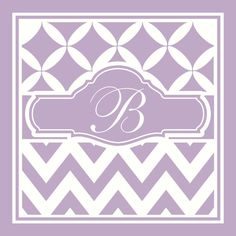 Girl Chevron Initial Wall Decal Wall Vinyl by PacificBeachBoutique, $23.00