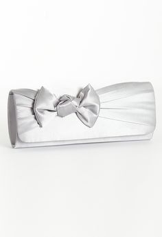 Satin clutch with bo