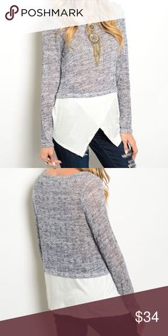 *COMING SOON* Chic Layered Top Long sleeve top featuring a woven wrapped hem. Great top for fall! Lightweight. Gives that layered look to compliment any outfit whether it's running errands or chic work wear. There will be sizes: S, M & L. *NO TRADES* **Item Coming Soon** Tops Blouses