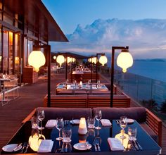 The Blue Orchid (Zest Restaurant, Conrad Koh Samui Resort, Thailand. Restaurant Hotel, Outdoor Restaurant, Terrace Restaurant, Thailand Restaurant, Seaside Restaurant, Seafood Restaurant, Rooftop Dining, Rooftop Terrace, Luxury Houses