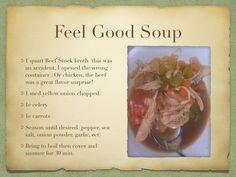 Feel good soup